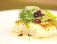 Grilled Pacific Halibut with Lemon Basil Vinaigrette