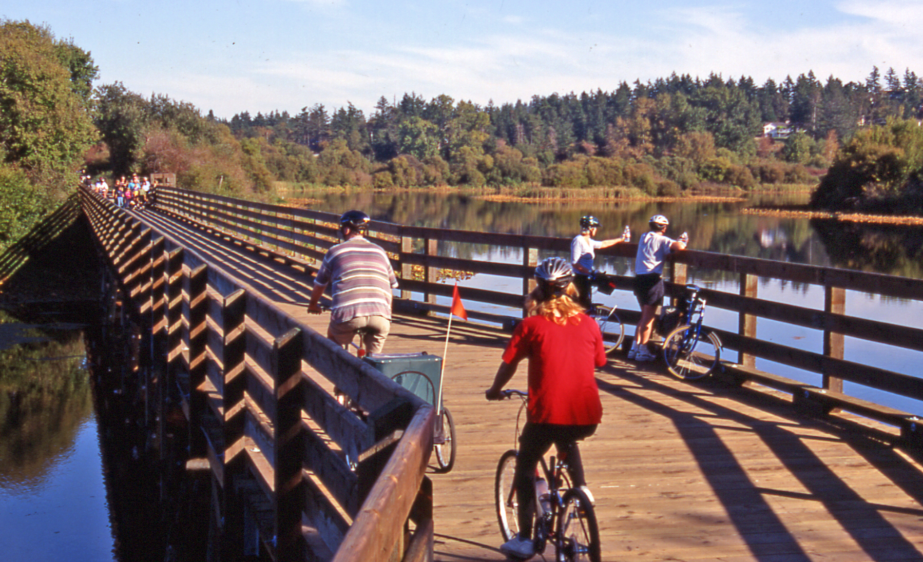 Cyclists At A Lake In Victoria, Healthy Living + Travel
