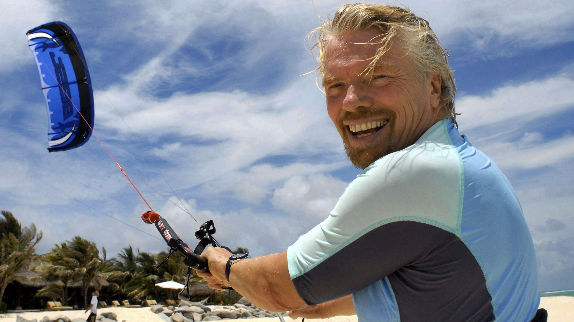 Richard Branson, Healthy Living + Travel