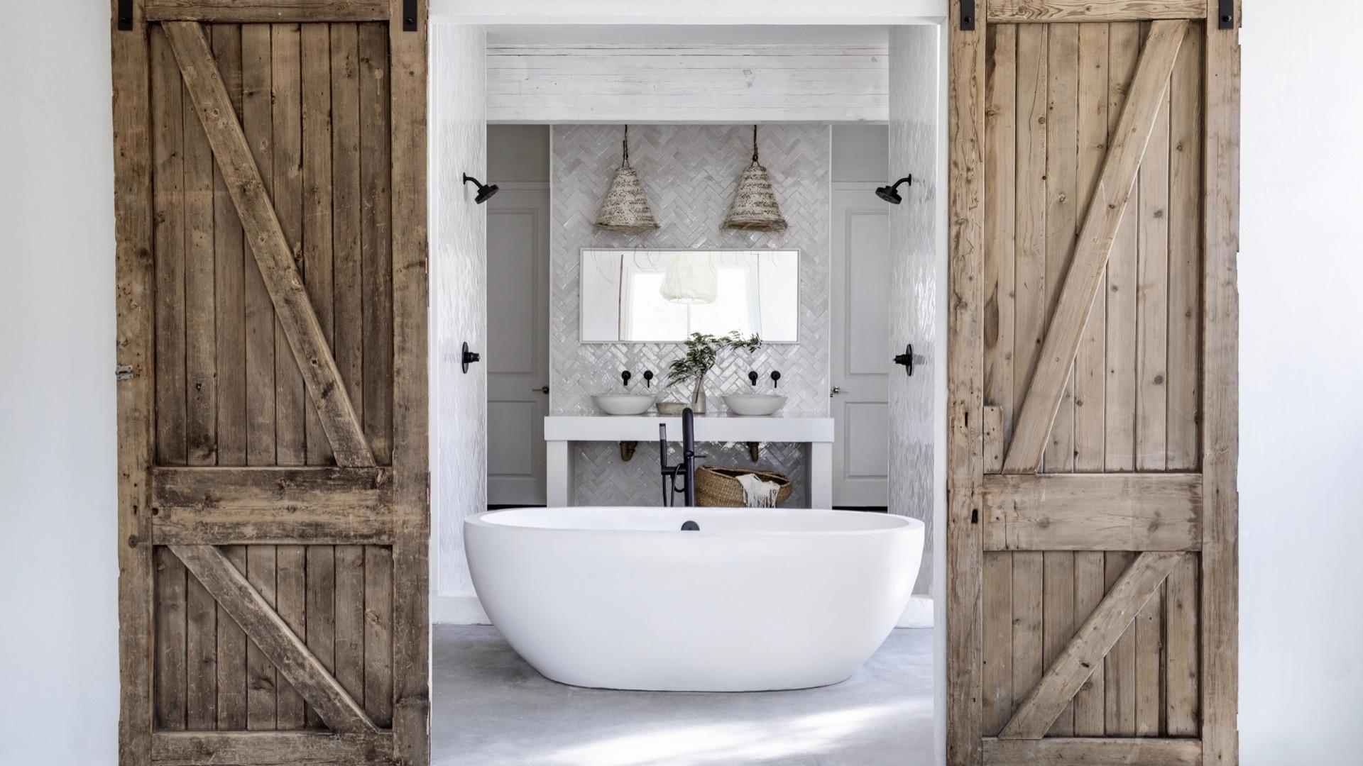 Leanne Ford's Chic White Bathroom Design, Healthy Living + Travel