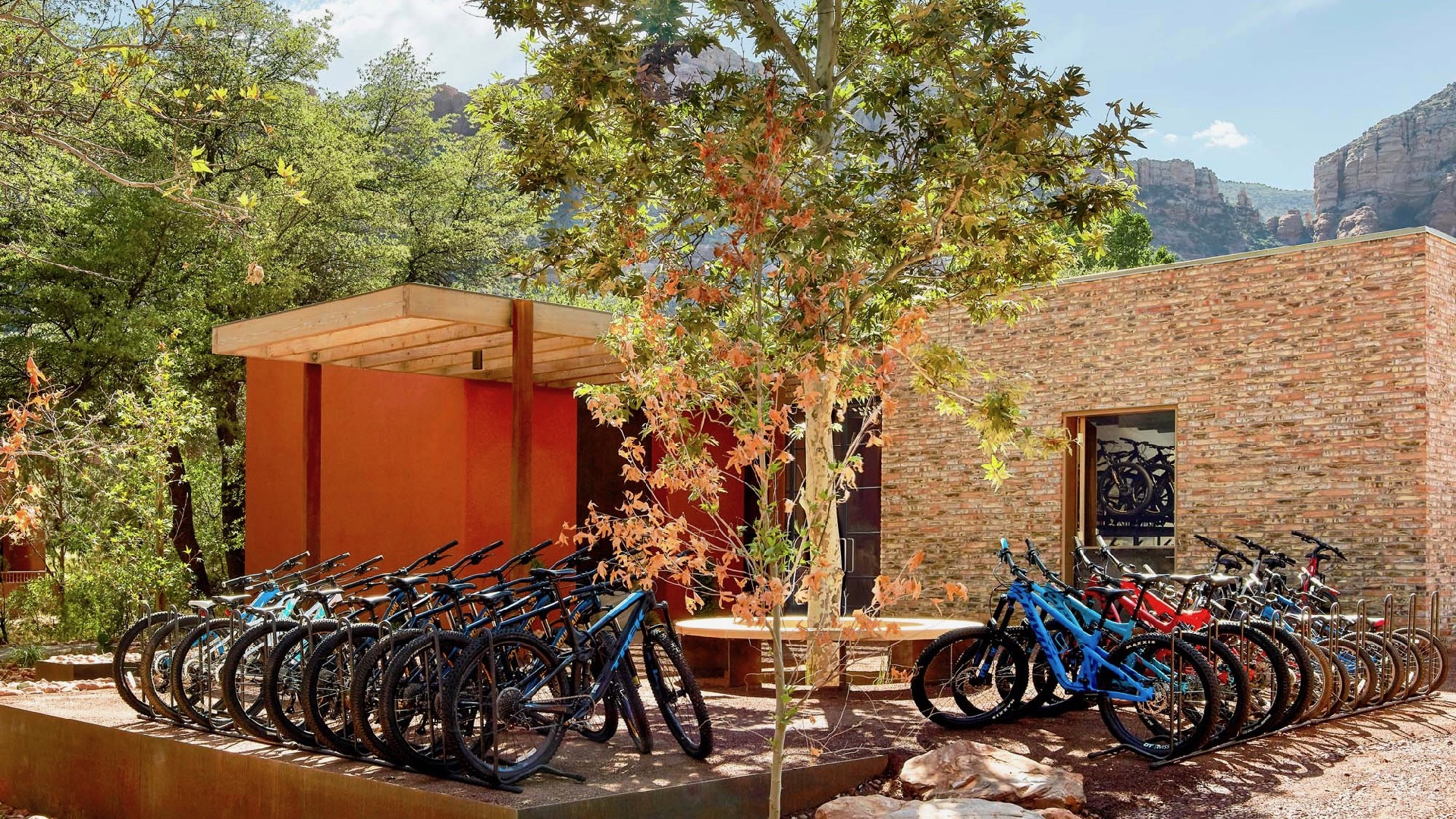 Exterior Bikes, Trail House, Enchantment Resort, Healthy Living + Travel.