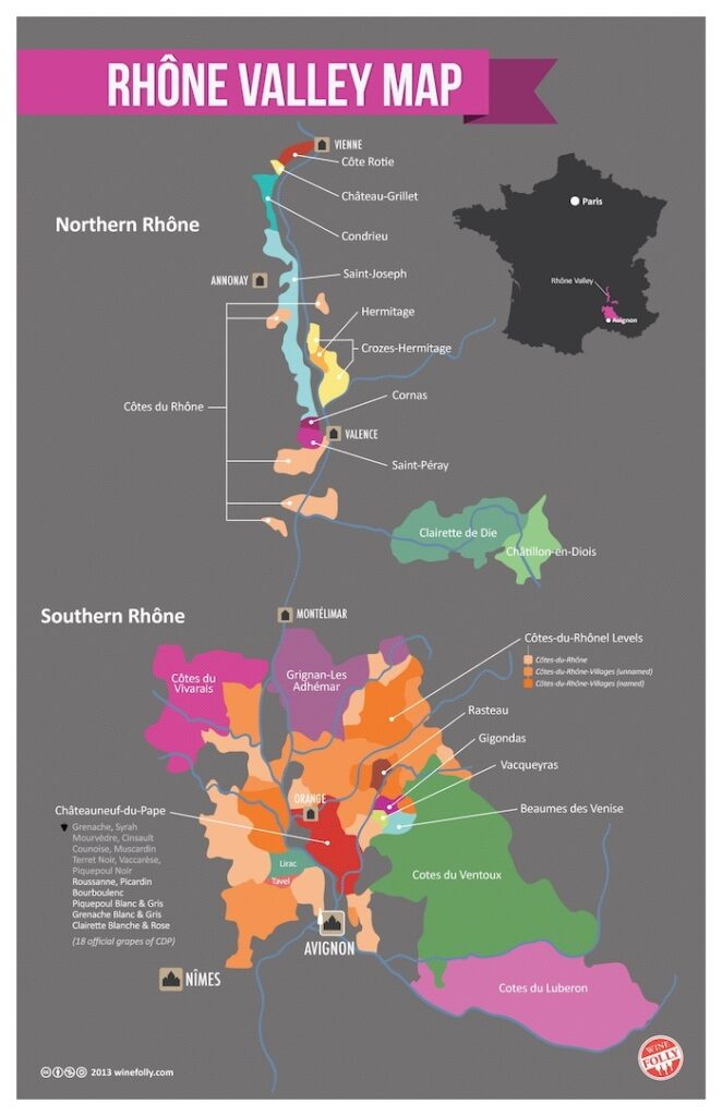 Rhone Valley Wine Map, Healthy Living + Travel