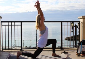 Woman, Oak Bay Beach Hotel Yoga, Healthy Living + Travel